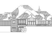 House Plan Design - European Exterior - Rear Elevation Plan #5-222