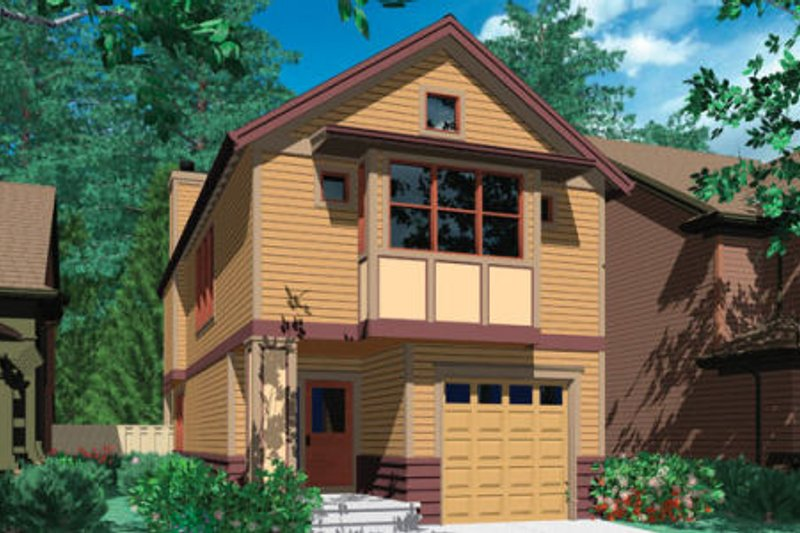 Architectural House Design - Craftsman Exterior - Front Elevation Plan #48-312