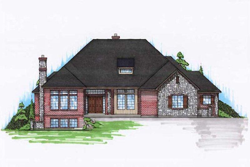 Dream House Plan - European Exterior - Front Elevation Plan #5-326