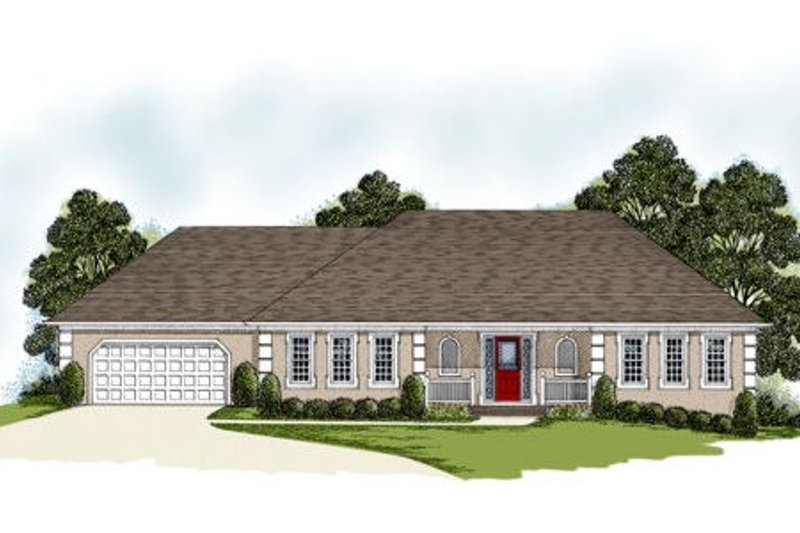 Traditional Exterior - Front Elevation Plan #56-187 - Houseplans.com