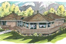 House Plan Design - Exterior - Front Elevation Plan #124-107