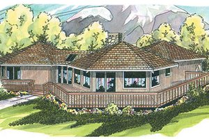 Dream House Plan - Exterior - Front Elevation Plan #124-107