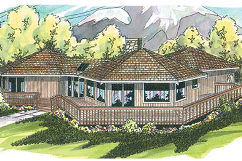 Exterior - Front Elevation Plan #124-107