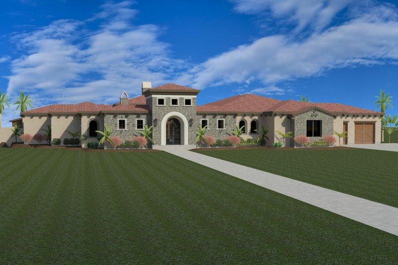 Dream House Plan - Mediterranean Exterior - Front Elevation Plan #920-88