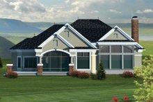 House Design - Ranch Exterior - Rear Elevation Plan #70-1064