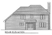 Traditional Style House Plan - 3 Beds 2.5 Baths 1679 Sq/Ft Plan #70-169 Exterior - Rear Elevation