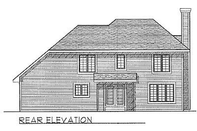 Traditional Exterior - Rear Elevation Plan #70-169 - Houseplans.com
