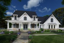 Dream House Plan - Farmhouse Exterior - Front Elevation Plan #120-272