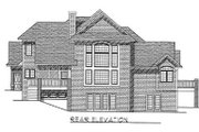 Traditional Style House Plan - 3 Beds 2.5 Baths 2510 Sq/Ft Plan #70-402 Exterior - Rear Elevation