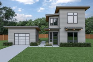 Contemporary Exterior - Front Elevation Plan #1070-66