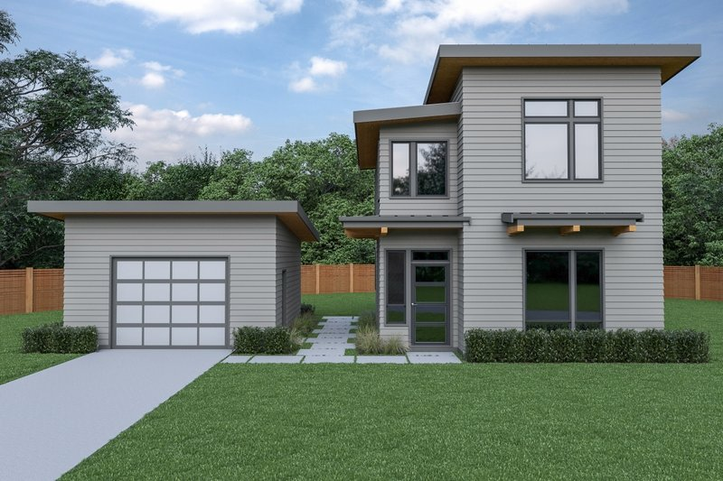 Architectural House Design - Contemporary Exterior - Front Elevation Plan #1070-66