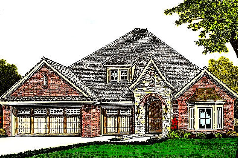 Home Plan - European Exterior - Front Elevation Plan #310-978