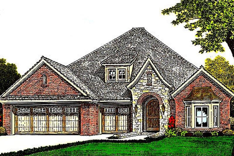 Home Plan - European Exterior - Front Elevation Plan #310-978