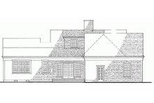 House Plan Design - Colonial Exterior - Rear Elevation Plan #137-163