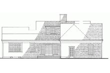 House Plan Design - Colonial Exterior - Rear Elevation Plan #137-163