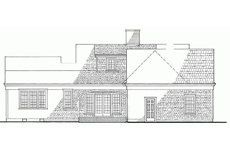 Colonial Exterior - Rear Elevation Plan #137-163 - Houseplans.com