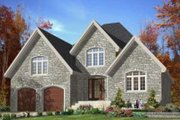 European Style House Plan - 2 Beds 2 Baths 1524 Sq/Ft Plan #138-115 Exterior - Front Elevation