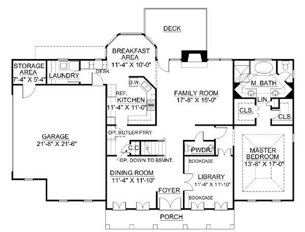Classical Floor Plan - Main Floor Plan #119-245