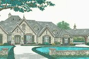European Style House Plan - 4 Beds 3.5 Baths 3193 Sq/Ft Plan #310-1280 Exterior - Front Elevation