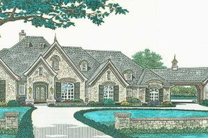 European Exterior - Front Elevation Plan #310-1280