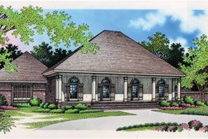 Southern Exterior - Front Elevation Plan #45-279