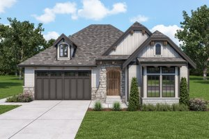 Dream House Plan - Cottage Exterior - Front Elevation Plan #1070-123