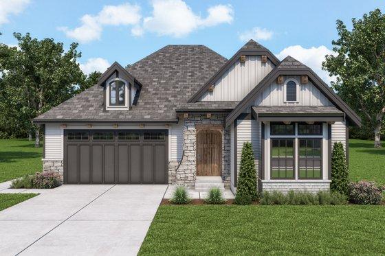 House Blueprint - Cottage Exterior - Front Elevation Plan #1070-123