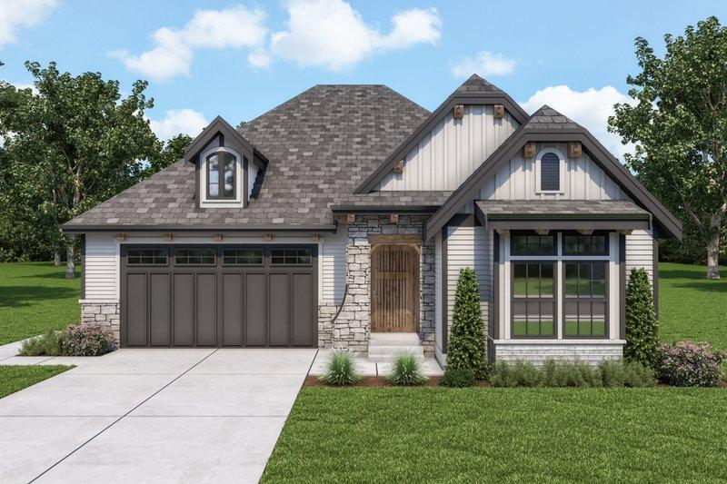 Architectural House Design - Cottage Exterior - Front Elevation Plan #1070-123
