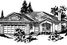House Blueprint - Ranch Exterior - Front Elevation Plan #18-134