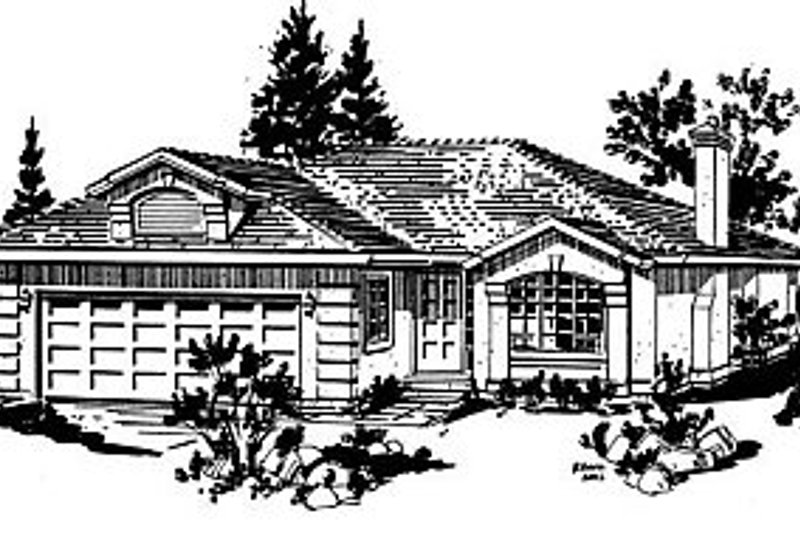 Ranch Exterior - Front Elevation Plan #18-134