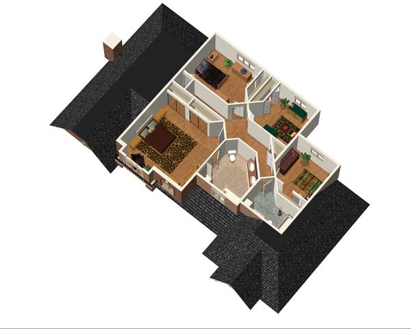 European Floor Plan - Upper Floor Plan Plan #25-4669