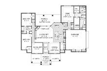 Tudor Floor Plan - Main Floor Plan Plan #45-373