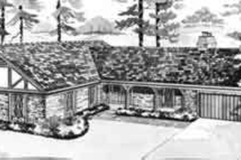 Traditional Exterior - Front Elevation Plan #72-445 - Houseplans.com