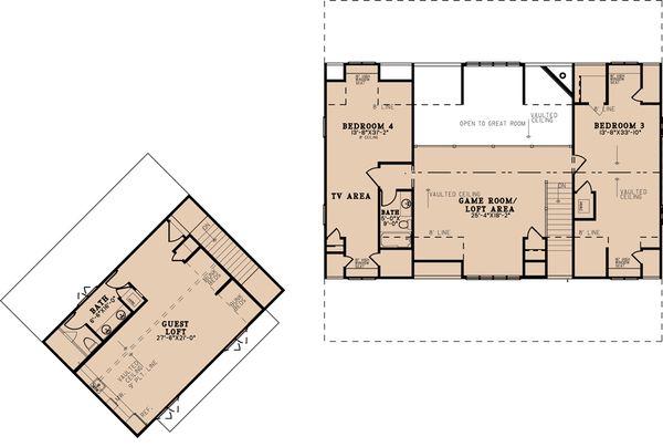 Home Plan - Country Floor Plan - Upper Floor Plan #923-200