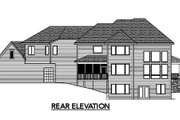 Traditional Style House Plan - 5 Beds 3.5 Baths 4171 Sq/Ft Plan #51-326 Exterior - Rear Elevation