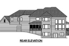 Home Plan - Traditional Exterior - Rear Elevation Plan #51-326