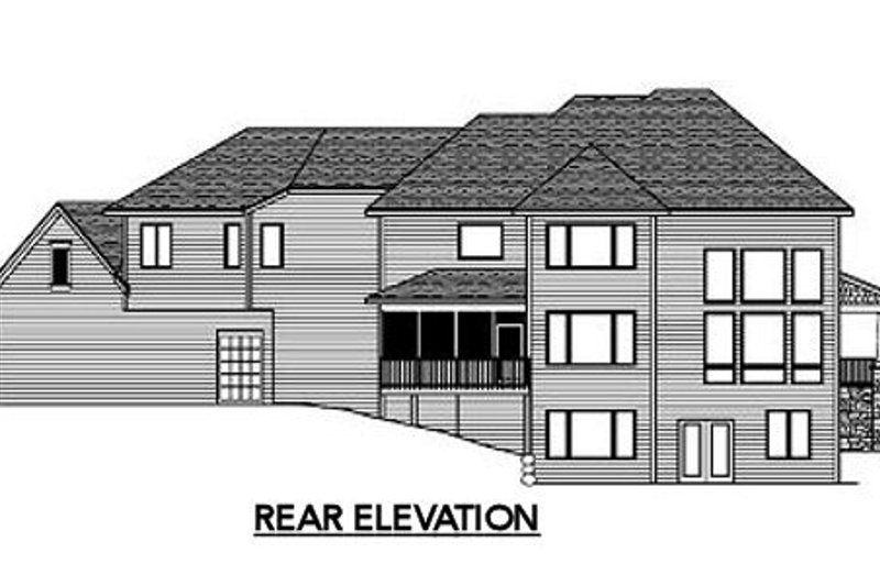 Traditional Exterior - Rear Elevation Plan #51-326 - Houseplans.com