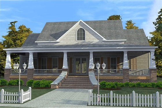 Craftsman Exterior - Front Elevation Plan #63-343