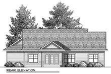 Bungalow Exterior - Rear Elevation Plan #70-901