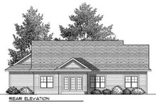 Architectural House Design - Bungalow Exterior - Rear Elevation Plan #70-901