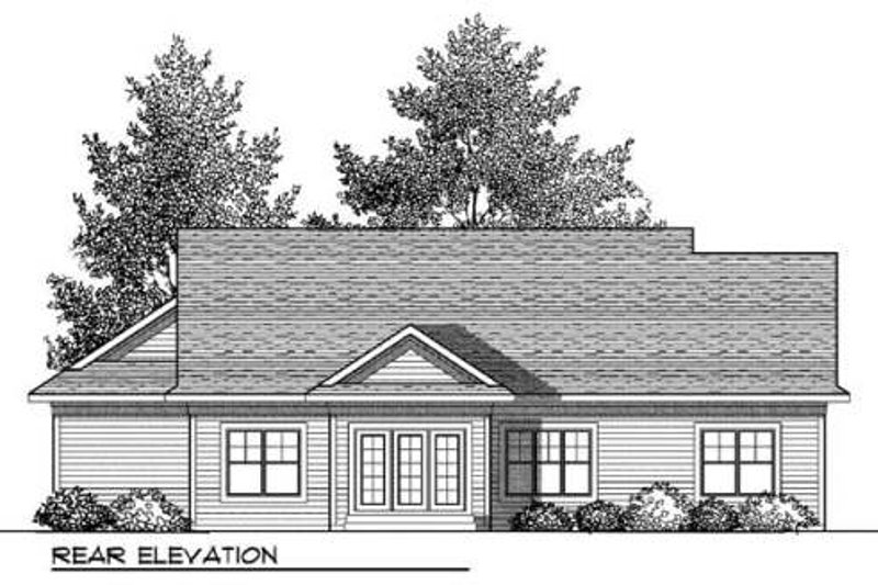 Bungalow Exterior - Rear Elevation Plan #70-901 - Houseplans.com