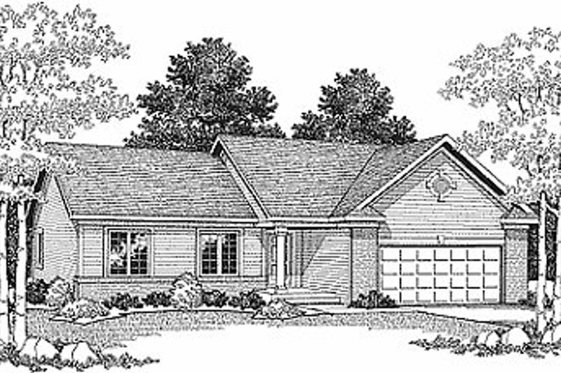 Traditional Exterior - Front Elevation Plan #70-110