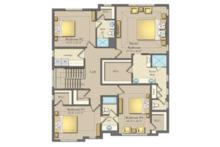 Farmhouse Floor Plan - Upper Floor Plan Plan #1057-15