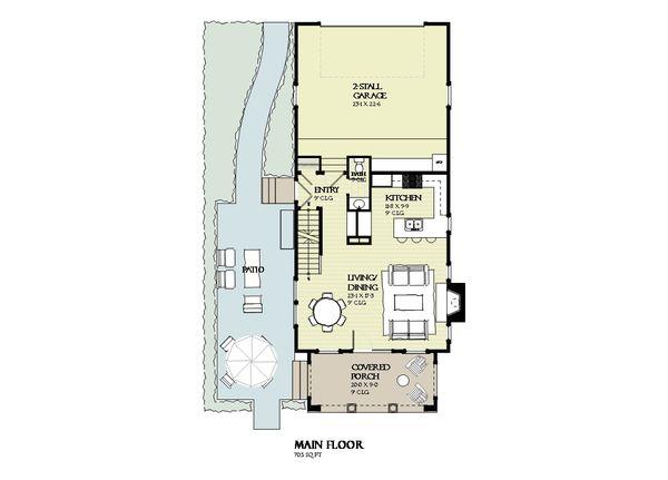 Beach Floor Plan - Main Floor Plan Plan #901-126