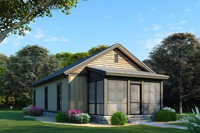 Country Style House Plan - 3 Beds 1 Baths 970 Sq/Ft Plan #923-99