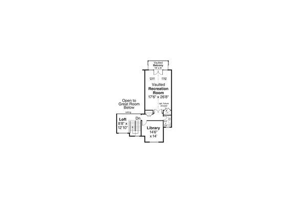Craftsman Floor Plan - Upper Floor Plan Plan #124-1163