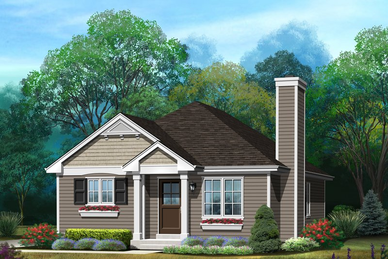 Ranch Style House Plan - 3 Beds 1 Baths 1067 Sq/Ft Plan #22-613