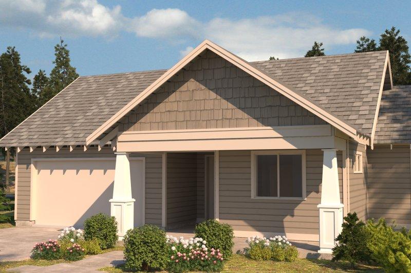 Craftsman Exterior - Front Elevation Plan #895-98