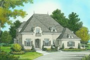 European Style House Plan - 4 Beds 5 Baths 3798 Sq/Ft Plan #413-800 Exterior - Front Elevation