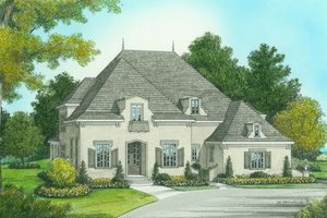 European Exterior - Front Elevation Plan #413-800